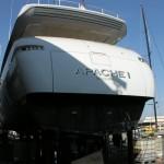 Cantieri navali Baglietto Yacht Apache 1 realizzazione con adesivo prespaziato 3M
