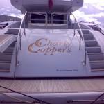 Yacht Charly Coppers realizzazione con adesivo prespaziato 3M