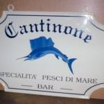 Cantinone ristorante Lecco - Insegna in lamiera di ferro verniciata, scritte verniciate