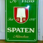 Birra Spaten - Insegna in alluminio con scritte in verniciatura