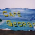 caffè george vado ligure - Aerografia su insegna in alluminio