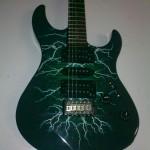 stampa digitale su chitarra elettrica